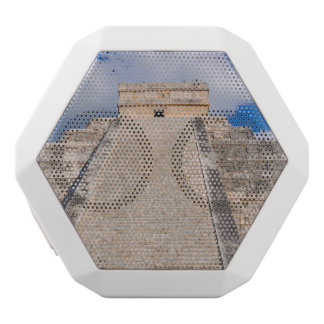 Chichen Itza Mayan Temple in Mexico White Bluetooth Speaker