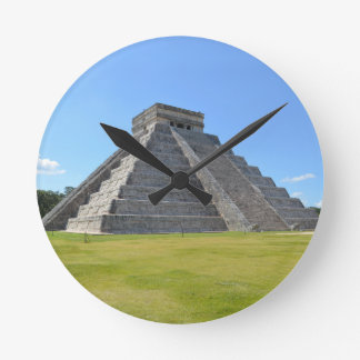 Chichen Itza Mexico Kukulkan Pyramid 7 Wonders Clocks