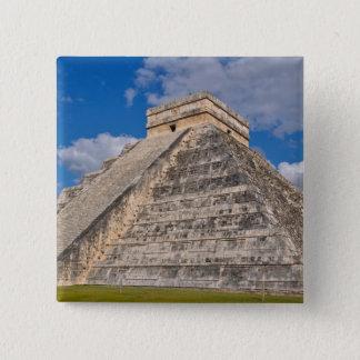 Chichen Itza Ruins in Mexico 15 Cm Square Badge