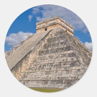 Chichen Itza Ruins in Mexico Classic Round Sticker