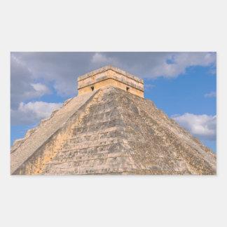 Chichen Itza Ruins in Mexico Rectangular Sticker