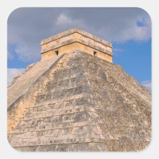 Chichen Itza Ruins in Mexico Square Sticker