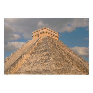 Chichen Itza Ruins in Mexico Wood Wall Art