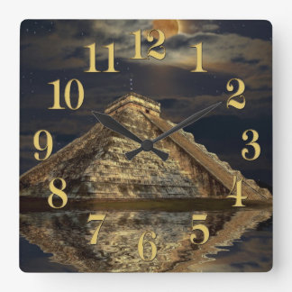 Chichen Itza Temple Famous Places - The Mayans Wallclocks