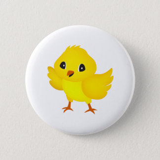 Chick 6 Cm Round Badge