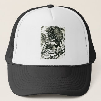 Chick-a-Dee [black and white print] Trucker Hat