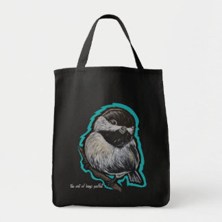 Chick-a-dee dee! Grocery bag or tote
