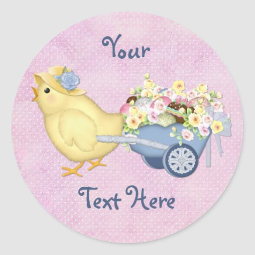 Chick and Cart Sticker