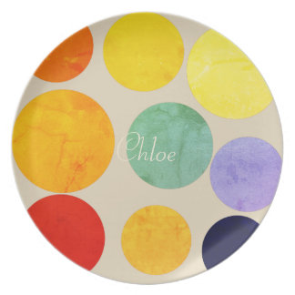 Chick Bright Fun Polka Dots Add Name Plate