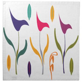 Chick Bright Watercolor Calla Lily Wedding Printed Napkins