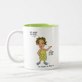 Chick drawing 2 (TV) Two-Tone Coffee Mug