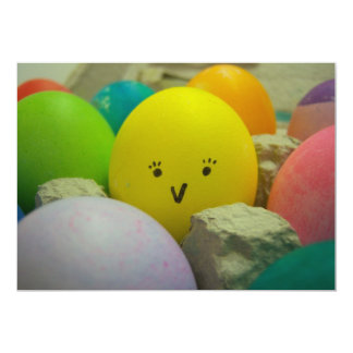 """Chick Easter Egg 5"""" X 7"""" Invitation Card"""