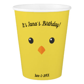 Chick Face Paper Cup