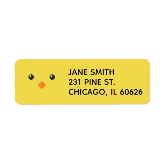 Chick Face Return Address Label