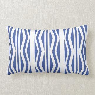 Chick Geometric Blue White Pattern Lumbar Pillow