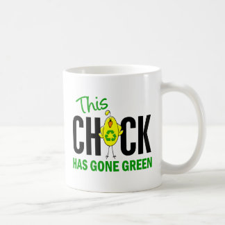 Chick Gone Green 1 Basic White Mug