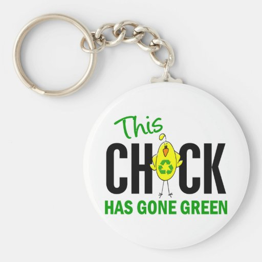 Chick Gone Green 1 Keychains