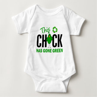 Chick Gone Green 2 Baby Bodysuit