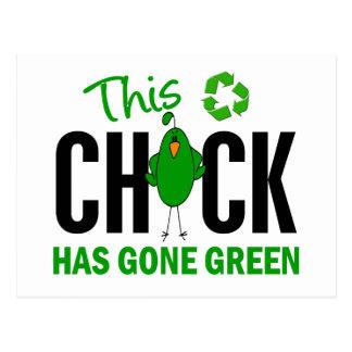 Chick Gone Green 2 Postcard