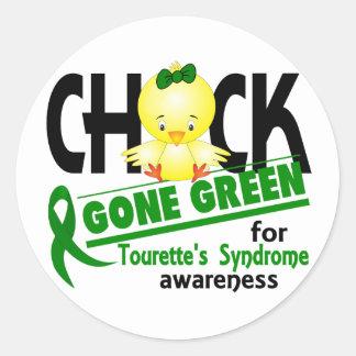 Chick Gone Green 2 Tourette's Syndrome Round Sticker
