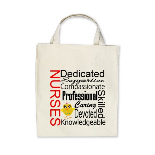 Chick Humor - Nurses Recognition Collage Tote Bags