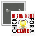 Chick In The Fight Parkinson's Disease 15 Cm Square Badge
