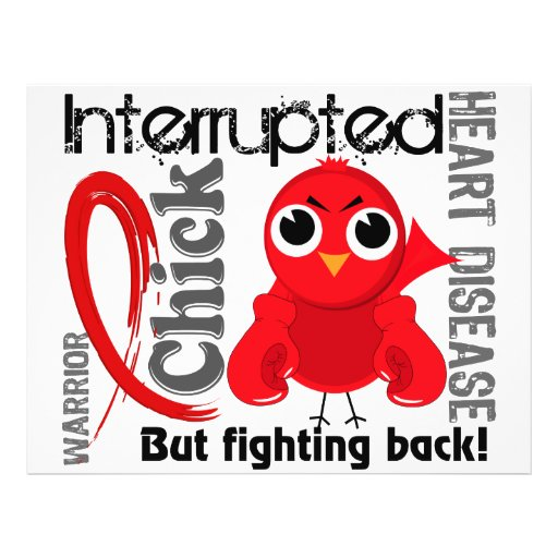 Chick Interrupted 3 Heart Disease Personalized Flyer