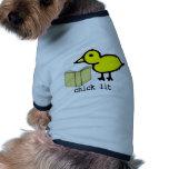 Chick Lit Doggie Tee Shirt
