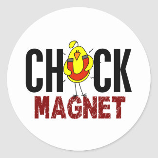 Chick Magnet Round Stickers
