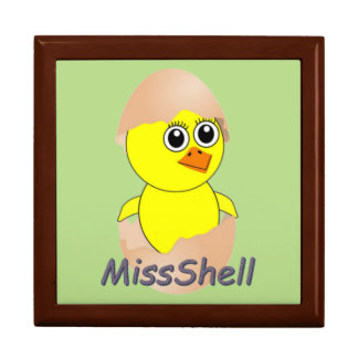 Chick  MissShell Large Square Gift Box