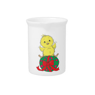Chick on Easter Egg Pitcher