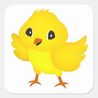 Chick Square Sticker