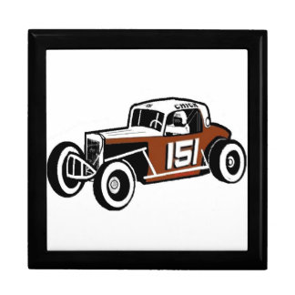Chick Stockwell Old Time Race Car Racearena Large Square Gift Box