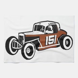 Chick Stockwell Old Time Race Car Racearena Towels