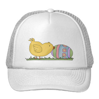 Chick With Decorated Egg T-shirts and Gifts Hat