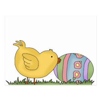 Chick With Decorated Egg T-shirts and Gifts Postcard