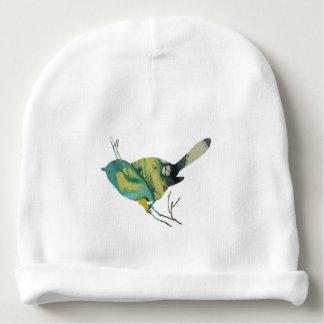Chickadee art baby beanie