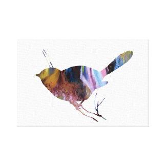 Chickadee art canvas print
