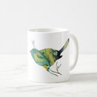 Chickadee art coffee mug