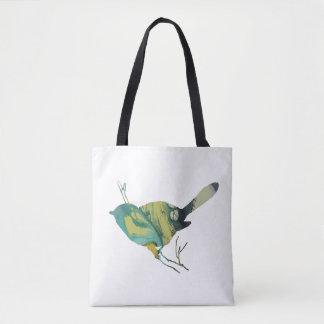 Chickadee art tote bag