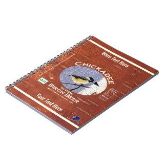 Chickadee Birch Beer Label Spiral Notebook