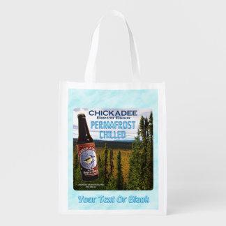 Chickadee Birch Beer Reusable Grocery Bag