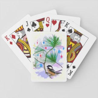 Chickadee Bird in Tree Playing Cards