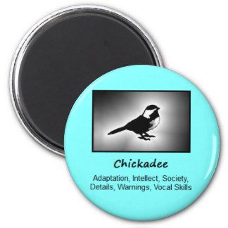 Chickadee Bird Totem Animal Spirit Meaning 6 Cm Round Magnet