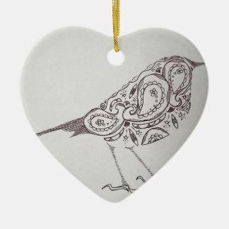 Chickadee Ceramic Ornament
