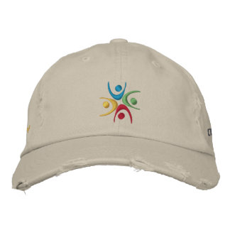 Chickadee Distressed Chino Hat Embroidered Hats