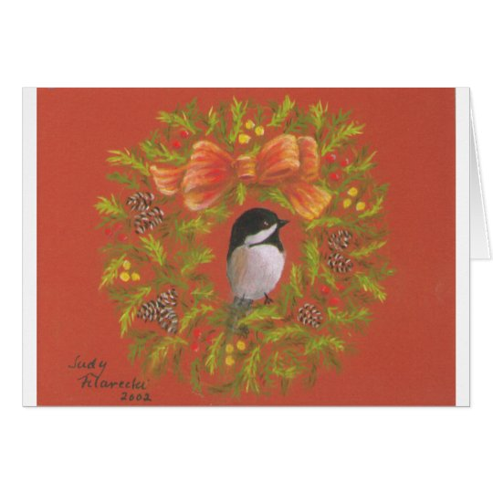 Chickadee Holiday Greeting Card