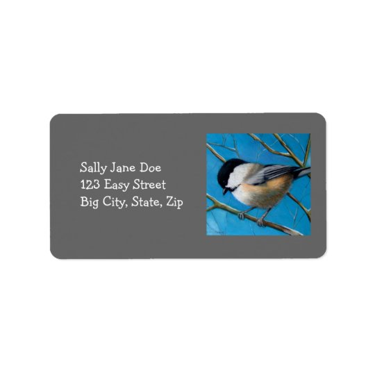 CHICKADEE IN PASTEL: ADDRESS LABELS