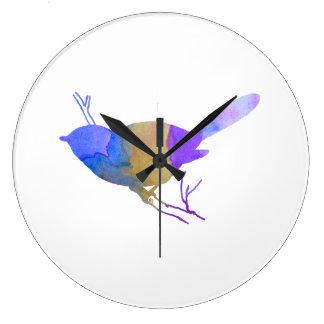Chickadee Large Clock