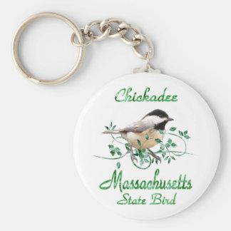 Chickadee Massachusetts State Bird Key Ring